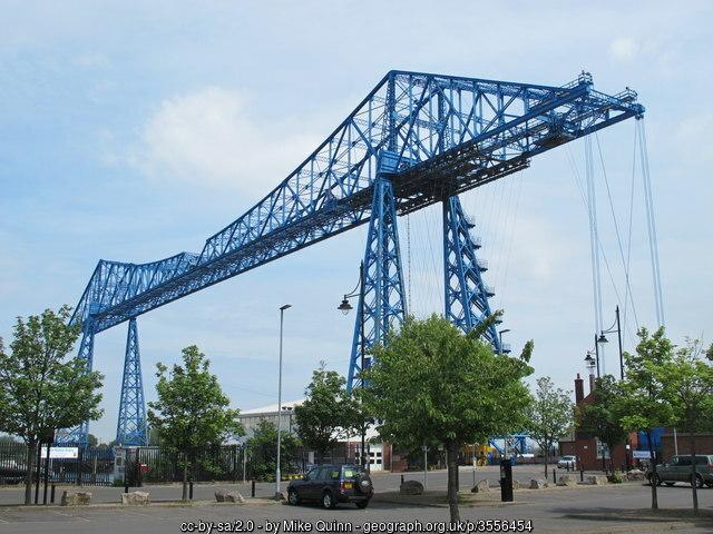This photo ofMiddlesbrough's Transporter Bridge iscopyright MikeQuinn
