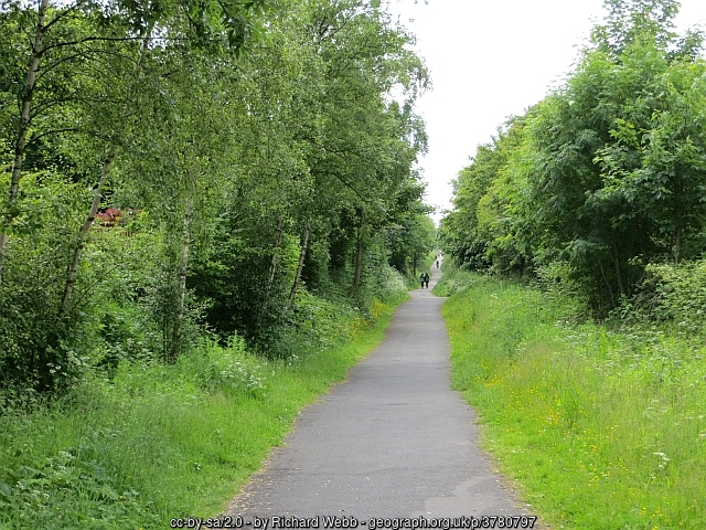 This photo of the Consett and Sunderland Railway Path is copyright Richard Webb
