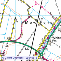 1:50,000 Modern Day Landranger(TM) Map © Crown Copyright