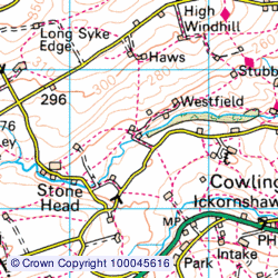 1:50,000 Modern Day Landranger(TM) Map © Crown Copyright